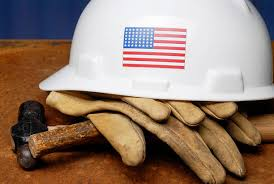 Image depicting US Labor - Hard Hat and Gloves